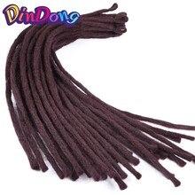 DinDong 22 дюйми Kanekalon Dreadlocks Чоловіки 8 кольорів Синтетичні в'язання для волосся Плетені виробу для волосся 30 кордонів