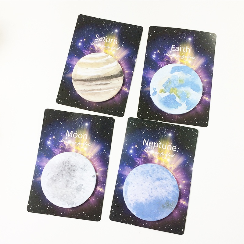 35 Pcs/pack Cool Planet Memo Pad Sticky Notes Notebook Stationery School Supplies Material For Office School Business Family