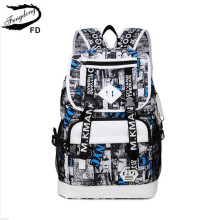 FengDong high school backpack male bag for laptop 15.6 inch schoolbag boy student bag college school bags boys bookbag daypack
