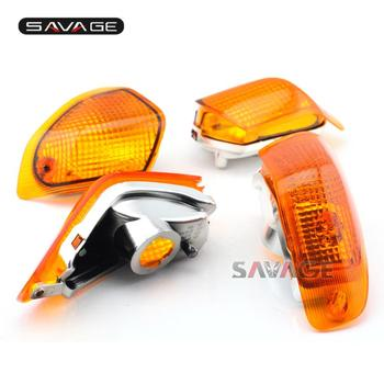 For KAWASAKI ZZR 400/600 ZZR400 ZZR600 ZX600E 1994-2004 Motorcycle Accessories Front&Rear Turn Signal Indicator Light Lamp Lens