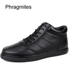 Phragmites Winter Fur Warm Men Boots Leather Boots Men Boots