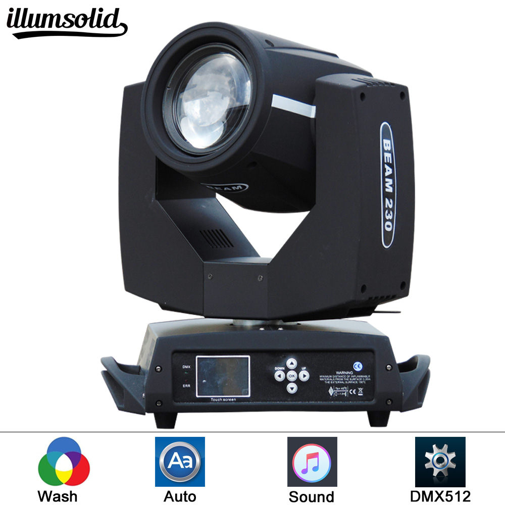 DMX 16Ch Touch Screen 7R Beam 230W Moving Head Light Black For Wedding Christmas Birthday DJ Disco KTV Bar Event Party Show dhl fedex free shipping 230w 7r beam moving head light dmx 230w spot 7r disco dj lighting for dj club night club party wedding