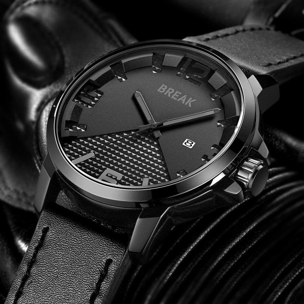 Break Watch Quartz Watches Men Black Sport Waterproof Army Military Clock Male Men Watches 2018 Luxury Brand Men's Watch Luxury все цены