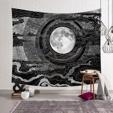 Солнце Луна гобелен настенный хиппи колдовство Tapiz психоделический дом Декор протез Tapisserie пляж богемный на заказ