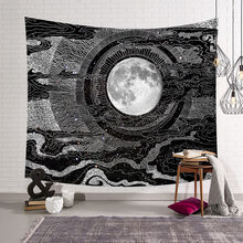 Sun Moon Tapestry Wall Hanging Hippie Witchcraft Tapiz Psychedelic Farmhouse Decor Tenture Tapisserie Beach Bohemian Custom(China)