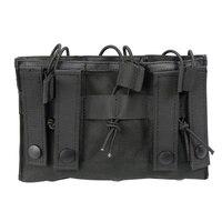 다기능 전술 트리플 팩 MOLLE 시스템 전술 장비 액세서리 Pac K 내마 모성 쉬운 운반 및 사용 가방