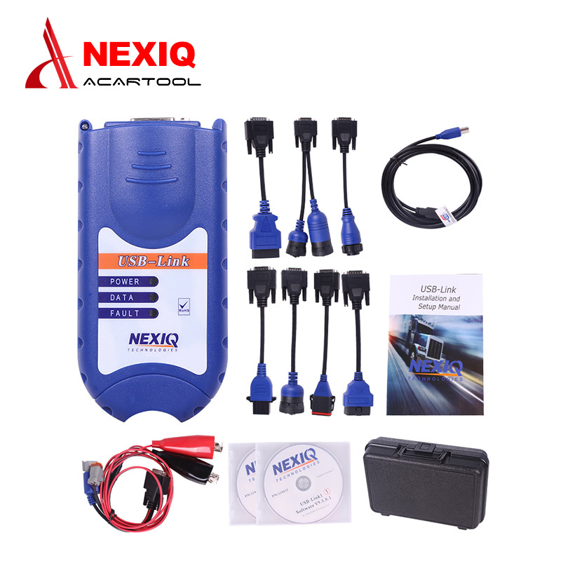 New Arrival NEXIQ 125032 USB Link with plastic case and Software Diesel Truck Diagnostic TOOL with All Adapters  цены