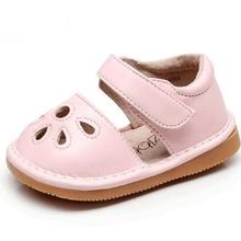 Fashion hollow out PU leather summer baby kids shoes childre