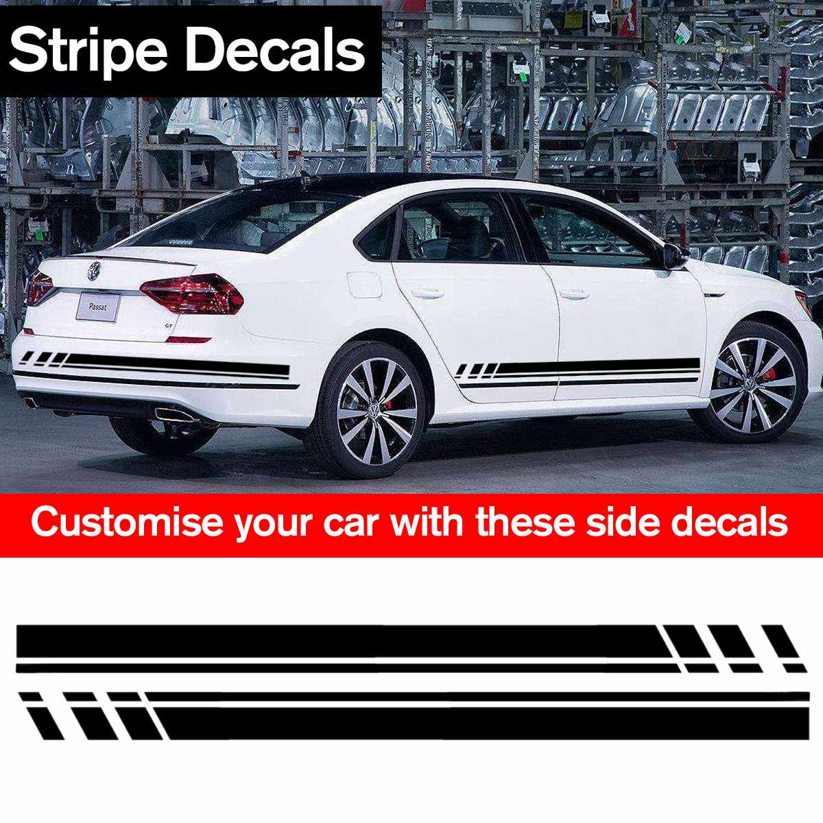 Stickers Graphic Decal Stripe Kit for VW Volkswagen Scirocco Mirror Cover Bulbs