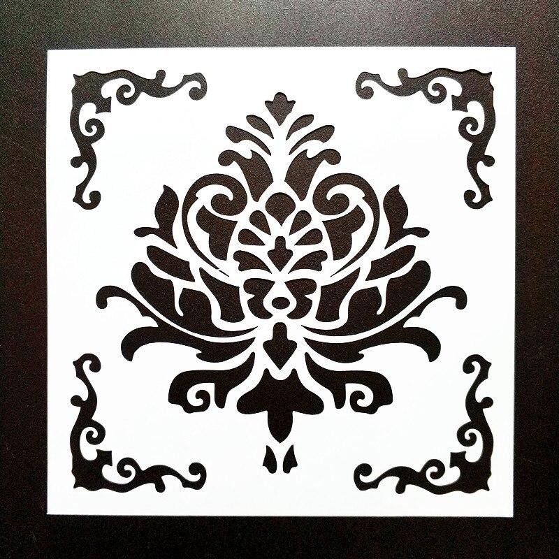 Bricolage Peinture A La Maison 15 15cm Modele Vintage Pochoir Modele Pour Carrelage Sol Meubles Tissu Peinture Decorative Aliexpress
