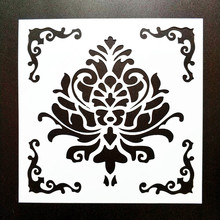 DIY Home Painting 15*15cm Vintage Pattern Stencil Template For Tile Floor Furniture Fabric Decorative