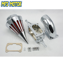 Freeshipping Motorcycle Spike Air Cleaner Intake Filter Kit For Yamaha Warrior 2002 2003 2004 2005 2006 2007 2008 2009 Chrome