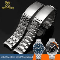 stainless steel watchband 20mm watch strap 18mm solid metal watch band 22mm Curved End steel watch bracelet for omg