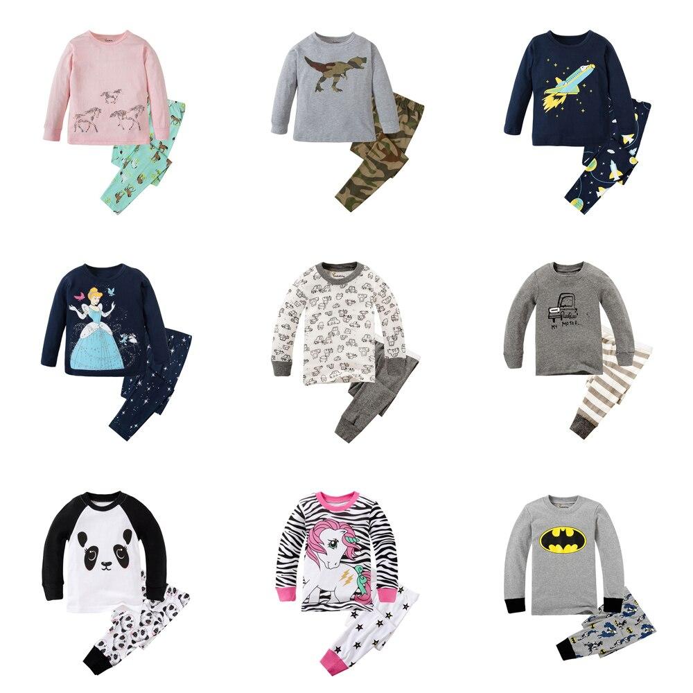 Boy Pajamas suit Car Floral Pijamas Long Sleeve Tee Shirt Pant Sleepwear
