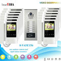 SmartYIBA 4.3 Handheld Apartment Building Intercom System with 6 to 12 Users RFID Card Unlock LCD Video Door Bell Door Phone