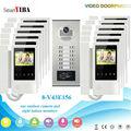 SmartYIBA 4.3 Handheld Apartment Building Intercom System with 6 to 12 Users RFID Card Unlock LCD Video Door Bell Door Phone