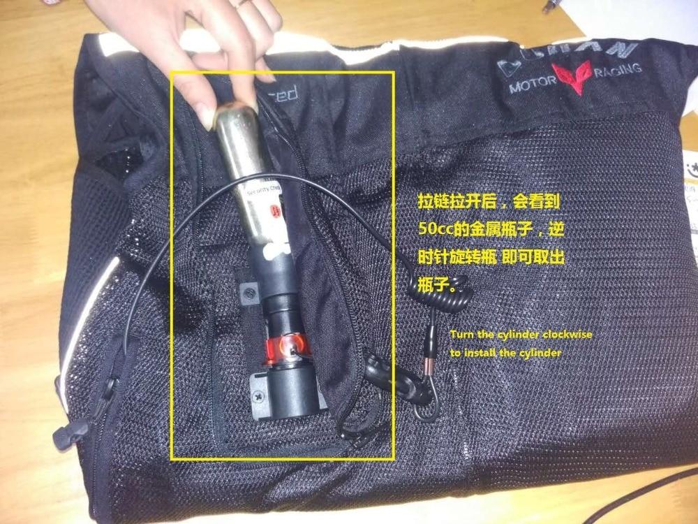 33 45 gramos de cilindro de Gas CO2 para motocicleta Airbag Vest 50cc 60cc botella de Gas CO2 cartucho para Duhan Airbag chaleco AIR01 02 de repuesto - 6