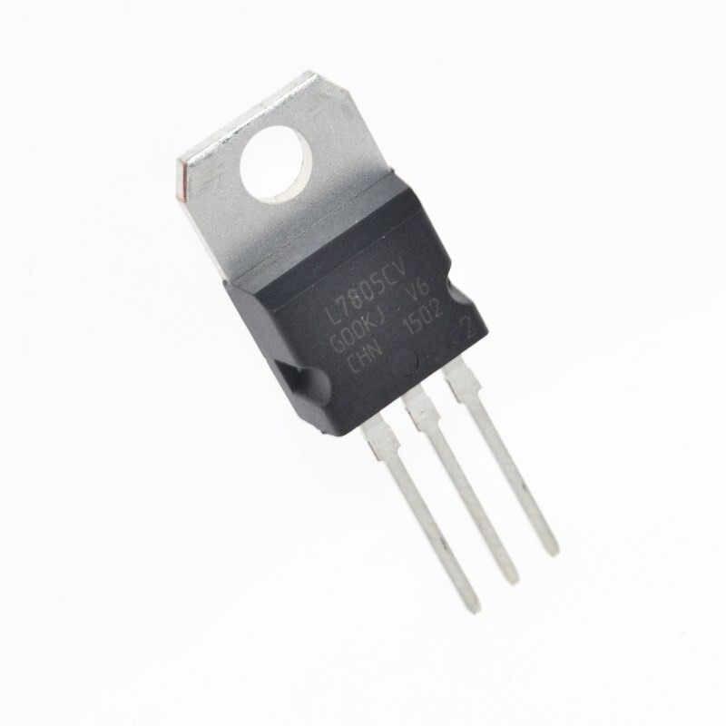 10pcs LM7805 L7805 7805 Voltage Regulator IC 5 V 1.5A OM-220 maken in china