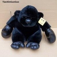 about 25cm black orangutan plush toy,soft doll birthday gift h2137