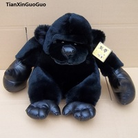about 25cm black orangutan plush toy,soft doll birthday gift h2137