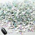 2015 Nova prego! 2.0mm LIMPAR RODADA PEDRINHAS para Nail art decorações 1000 pçs/saco, 2 bags/lot. total 2000 pcs unhas