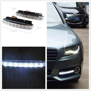 2pcs 8 LED Euro Daytime Running Light DRL Daylight Fog Lamp Day Lights Car Styling Fit For Audi BMW VW Ford Car Accessories