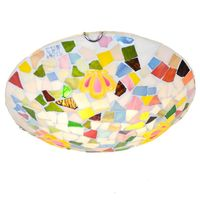 Cute Mosaic Children S Bedroom Ceiling Fixtures Creative Small Crown Girl S Room Ceiling Lamp Balcony