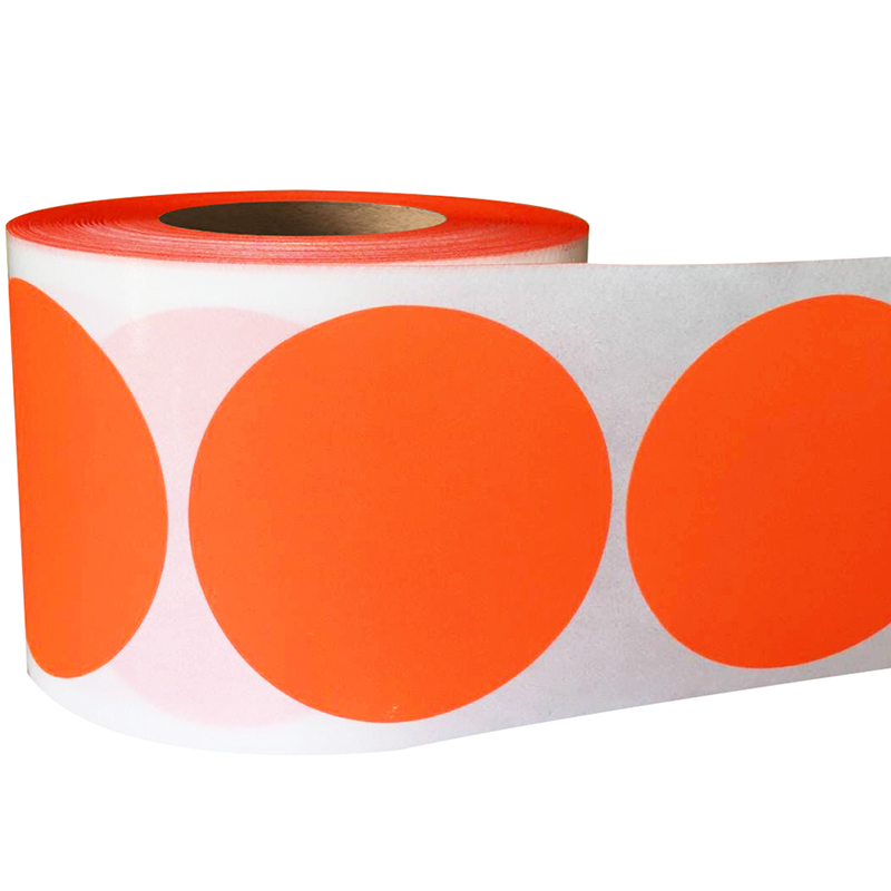 Smart Sticker 2 Inch Round Blank Fluorescent Red Orange Shooting Target Pasters500 Adhesive Target Dots