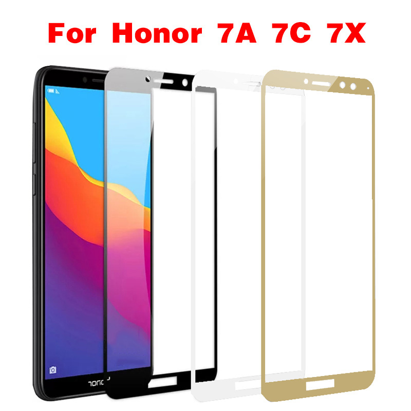 Protective Glass On For Honor 7A Tempered Glass For Huawei Honor 7A 7C 7X Honer A7 Huawey Honor7a Dua-L22 2018 5.45 Safety Glass