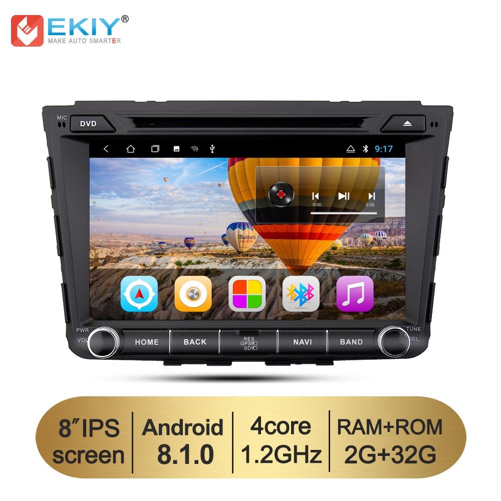 EKIY 8'' Car Multimedia GPS Navigation System for Hyundai Creta IX25 2din Android 8.1 TDA7851 Stereo DVD Radio Video Player WIFI