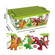 Dino Valley Building Blocks Large particles Dinosaur Paradise Animal Model toys Compatible 40pcs lot large particle jurassic dinosaur world dino valley diy building blocks sets duplo animal model toys for children gifts