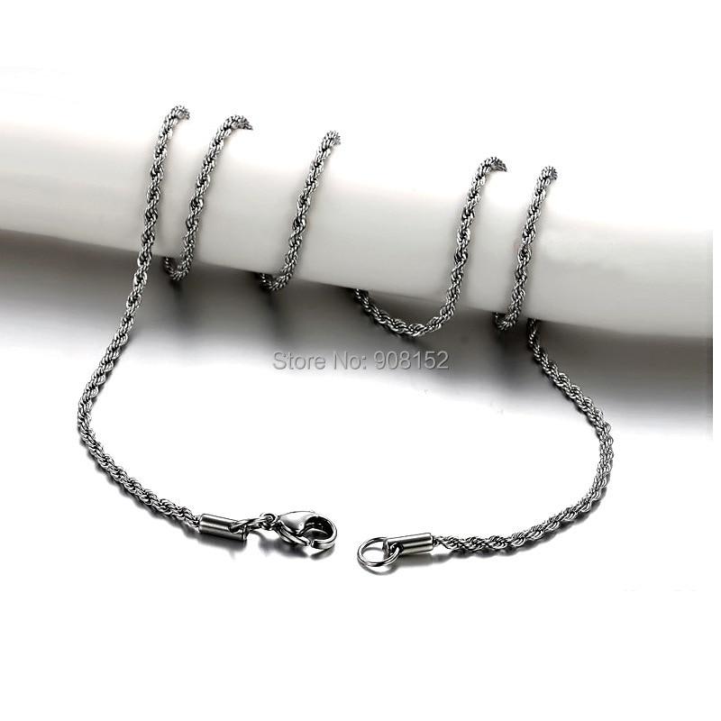 316L Stainless Steel Necklace, Titanium Steel Multiple Twisted Chain Necklace Wholesale by 20 pieces/pack hervé léger длинное платье