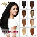 Clip in Human Hair Extensions Blonde hairpins Remy Clip In Hair Extension Natural Hair 7pcs Full Head Human Hair With Clip Ins