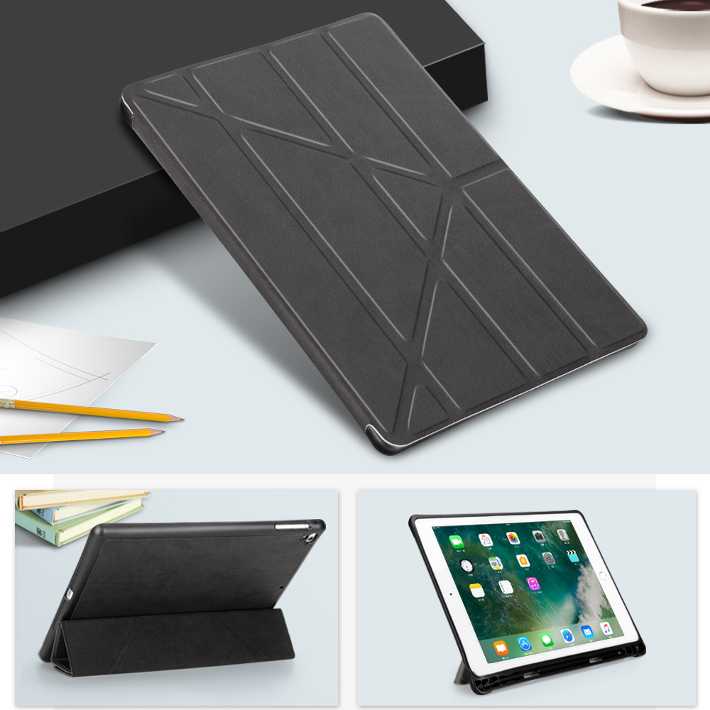 Case For Ipad 2 3 4 Smart Cover For New Ipad 9.7 2017 PU Leather Case For Ipad Mini 1 2 3 4 Air 1 2 Case With Pencil Holder