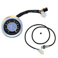 Motorcycle Instrument Universal Aluminium LCD Digital Speedometer Tachometer Odometer Backlight Gauge