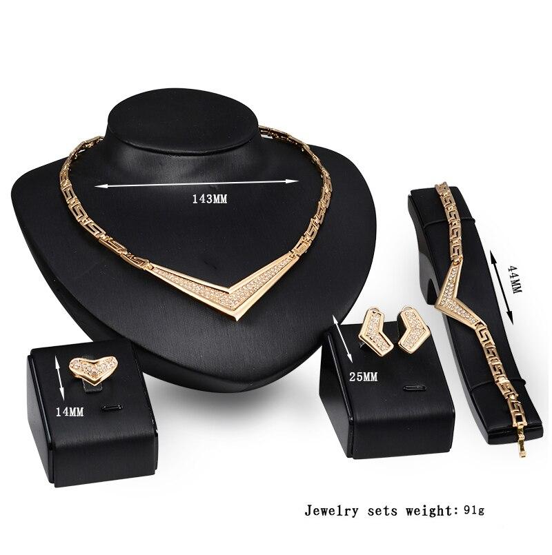 Conjunto de joyas de traje africano 18K anillo plateado Earing collar - Bisutería - foto 2