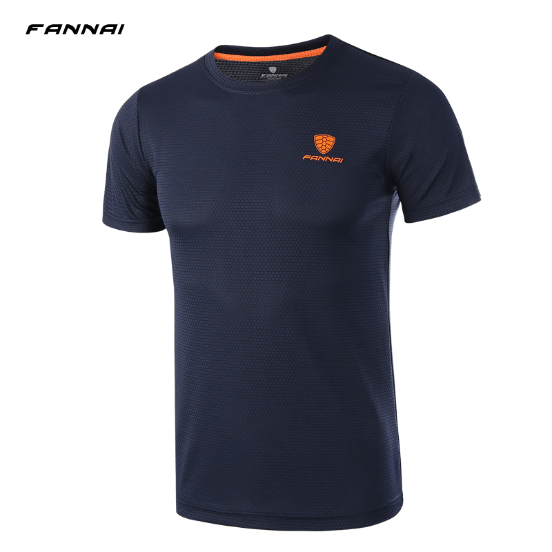 Summer Style Athletic Design Soccer Jerseys Running shirt Men T-shirt O-neck Short-sleeve Top tshirt sportswear plus size M-4XL trendy slimming round neck short sleeves button design solid color t shirt for men
