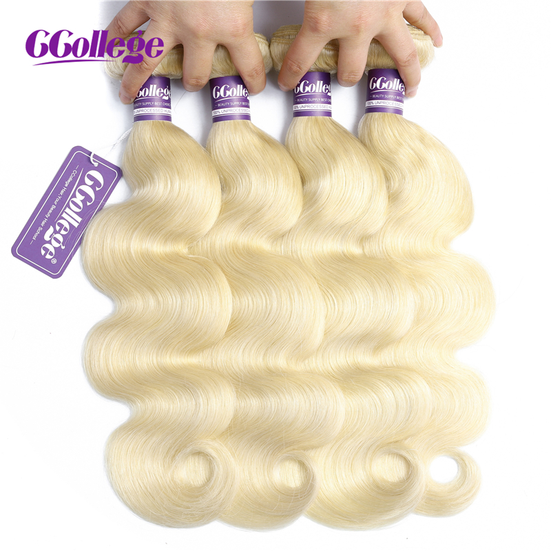 Honey Blonde 613 Bundles Body Wave Malaysian Hair Weave Bundles 100% Remy Hair Extensions 3 Pieces Human Hair Weft Can Be Dye image