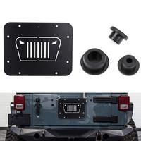 Fits For Jeep Wrangler Spare Tire Delete Plate & Tailgate Body Plugs for JK JKU 2007 to 2017 2008 2009 2010 2012 2014 2015 2016