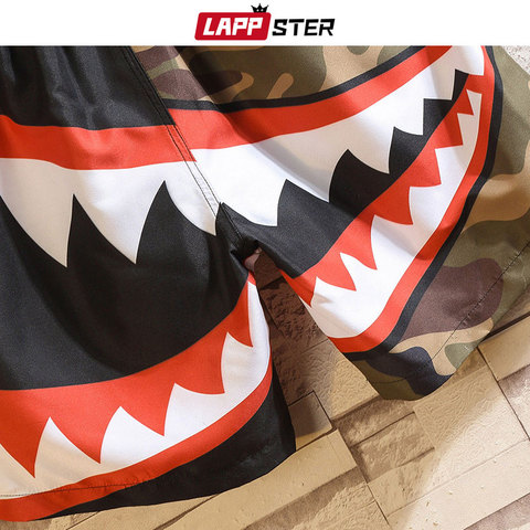 LAPPSTER Men Summer Patchwork Shorts 2019 Mens Streetwear Hip Hop Shorts Casual Shark Polyester Colorful Sweat Shorts Big Size Islamabad