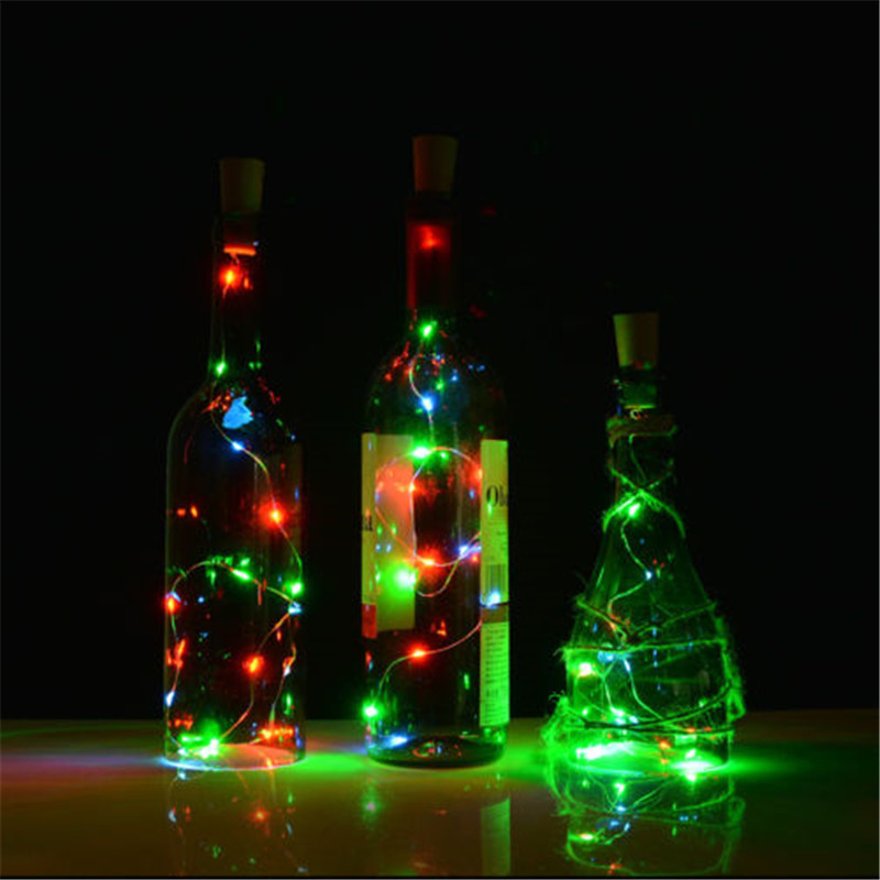 Practical Led Lights Silver Wire Corker String Fairy For Glass Craft Bottle Garland New Year/christmas/valentines Wedding Decoration Led String