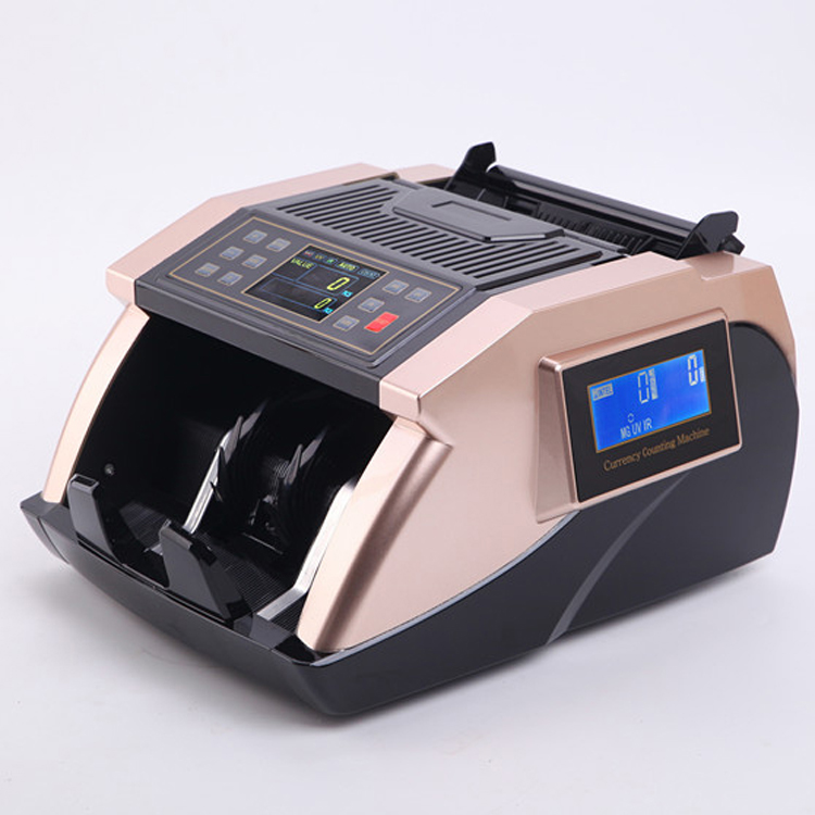 Multi-currency Bill Counter with UV +MG detection Money counter Financial Equipment With Mix Counting Function for Euro only fake money detector ir detection eu 8070 suitable for multi currency financial equipment wholesale