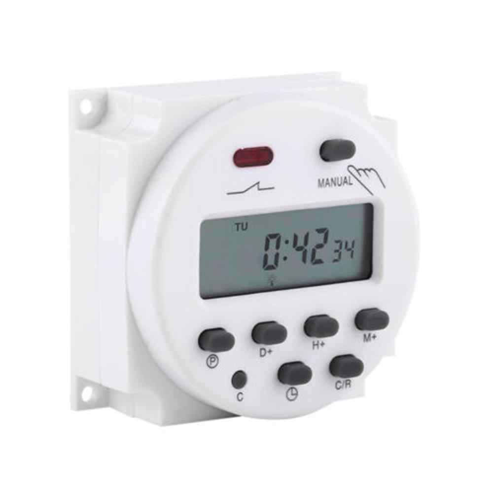 OKtimer cc 12 V/220 V Digital LCD Temporizador Semanal 7 días programable interruptor de tiempo relé 8A a 16A temporizador 10A mini @ 15