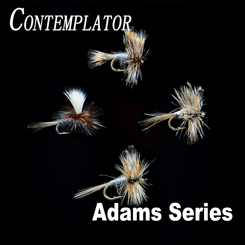 CONTEMPLATOR 4styles 14#16# Adam Series flies 5pcs/box quintessential dry fly adam parachute wulff irrestible fly fishing lures