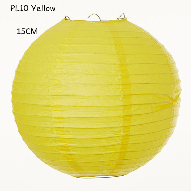 6u0027u0027(15cm) 15pcs/lot Indoor Chinese Round Yellow Handmade Hanging Rice Paper  Lamps Lanterns Wedding Parties Holiday Decorations In Lanterns From Home ...