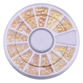 1 Wheel Marine Life Golden Nail Art Flakes Metal Decoration Leaves Shells Shape Slice Tip 3D DIY Stickers Manicure Jewelry Gift