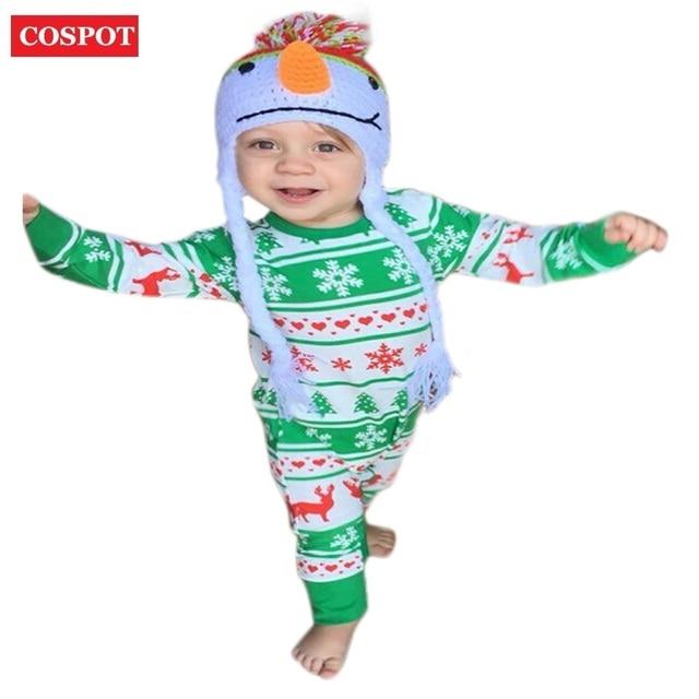 COSPOT Meninos Das Meninas Do Bebê Romper Recém-nascidos Outono Pijama de Algodão Criança Xmas Da Rena do Natal Macacão 2017 Nova Chegada 40D