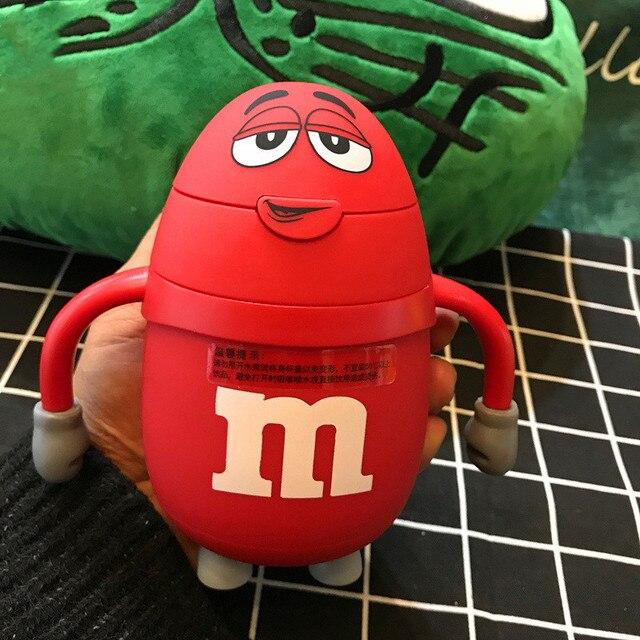 Creative Kids Water Bottle With Straw Water Bottle For Children Kids Cartoon Smile Glass Cute Bottle For School