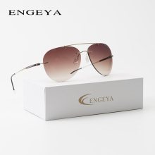 2018 ENGEYA stainless steel super light rimless sunglasses b