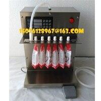 5L/MIN Small electric suction nozzle stand bag soybean milk plum tea juice soy milk beverage liquid filling machine
